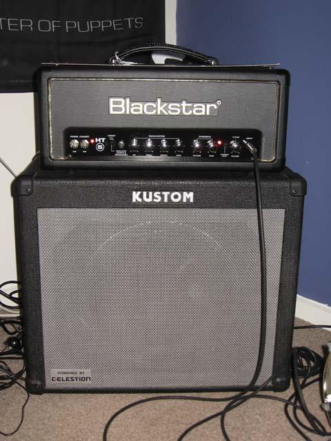 with Kustom KGA65 combo for speaker cab