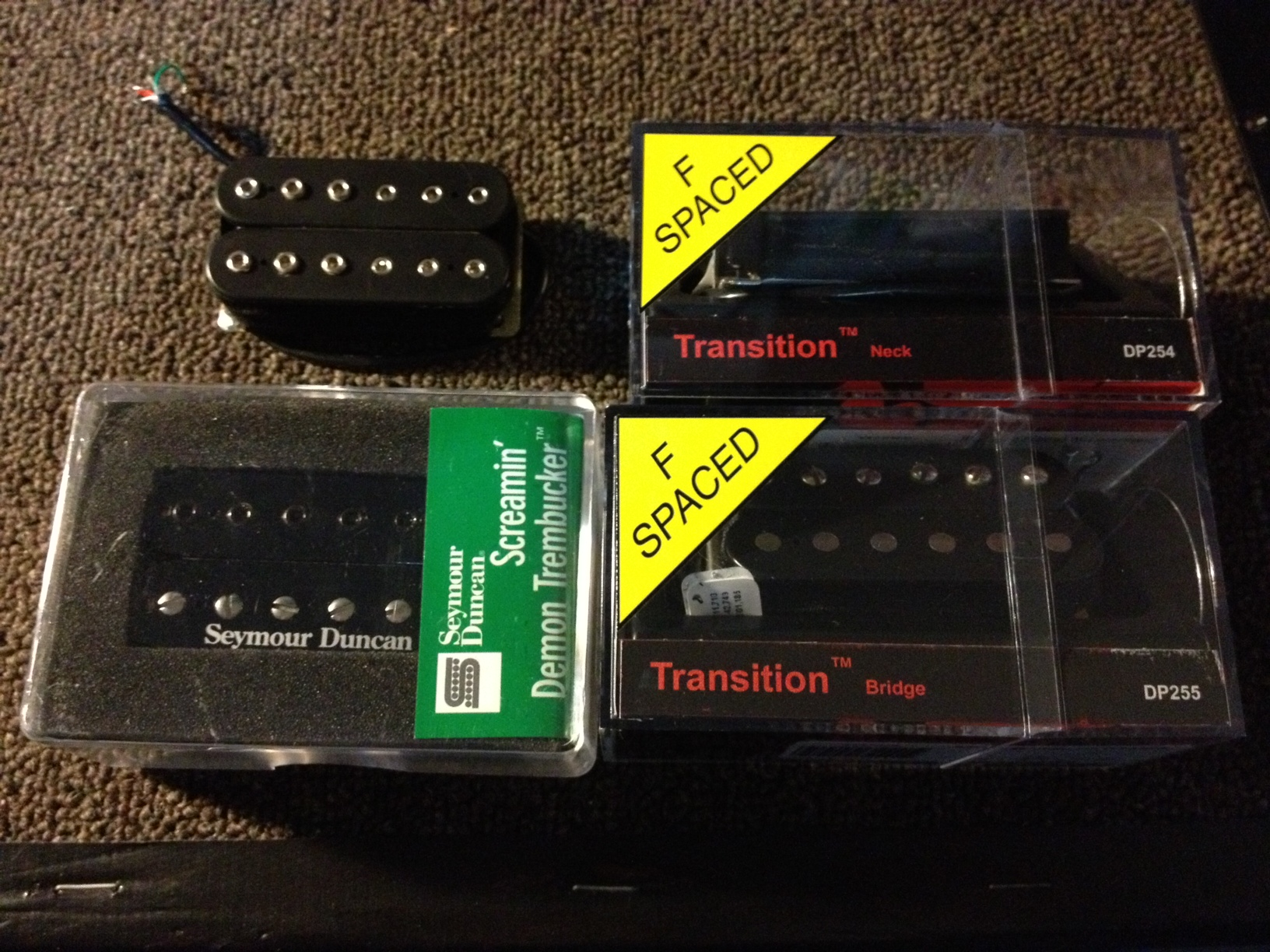Pickups for sale, DiMarzio Transitions, Super Distortion and Duncan ...