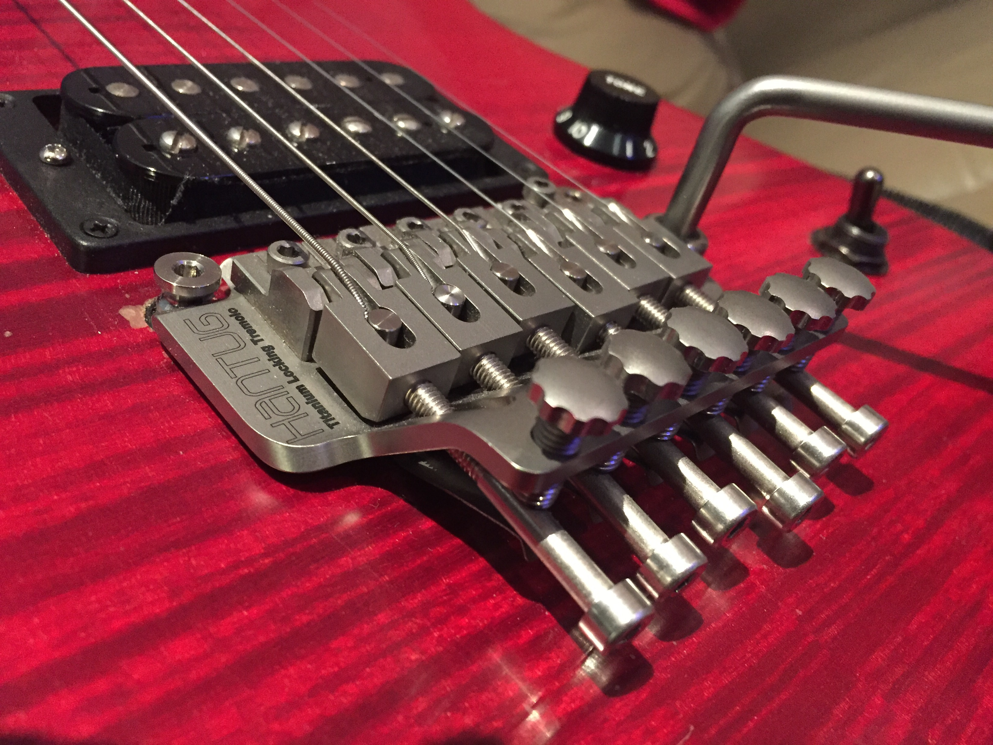 Hantug titanium double locking tremolo